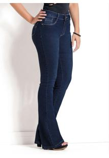 Calça Jeans Sawary Azul Modelo Flare