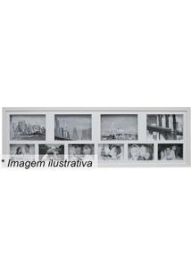 Painel Para 10 Fotos- Branco- 30X100X3Cmkapos