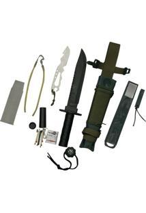 Faca Platoon Com Kit De Sobrevivência Nautika - Unissex