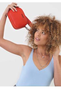 Bolsa Tiracolo Colcci Alã§A Larga Vermelha - Vermelha - Feminino - Dafiti