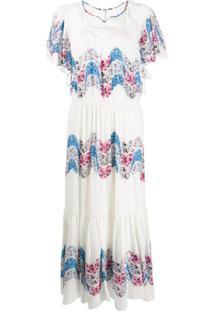 Isabel Marant Vestido Nimo De Seda Com Amarração - Branco