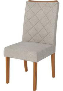 Cadeira Golden 2 Peças - Pena Bege - Carvalho Americano