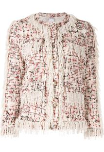 Huishan Zhang Cecil Tweed Jacket - Branco