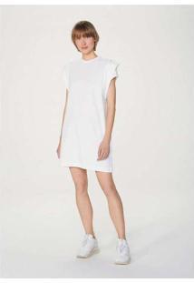 Vestido Curto Em Algodão Branco