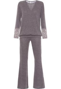 Pijama Feminino Sardenha - Cinza