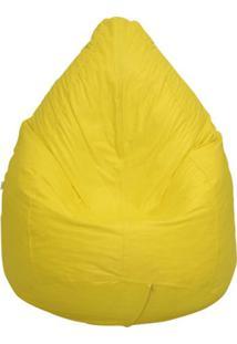 Puff Perão Pop Corino Amarelo