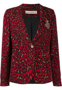 Shirtaporter Blazer Animal Print - Vermelho
