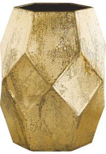 Vaso Geométrico- Dourado- 18X14X13Cm- Martmart