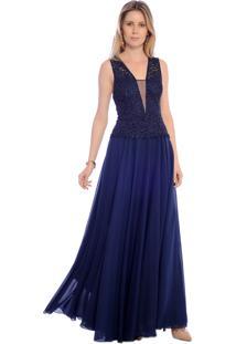 d7c848ce76 Vestido Azul Marinho Festa feminino | Shoelover