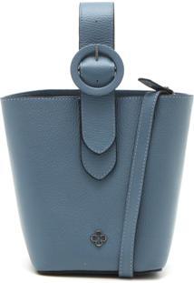 Bolsa Couro Capodarte Fivela Azul