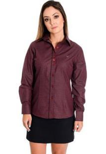 Camisa Pimenta Rosada Desireé - Feminino-Vermelho Escuro