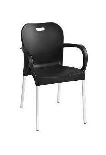 Cadeira Lyon Confort Plastico Polipropileno Preta
