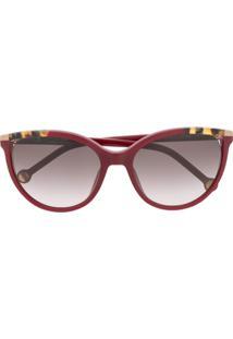 Ch Carolina Herrera Cat Eye Sunglasses - Vermelho