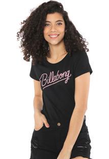 Camiseta Billabong Dream Flower Preta