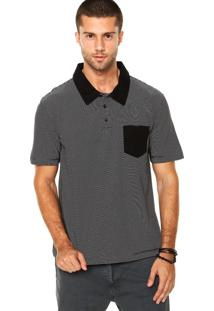 Camisa Polo Quiksilver Stone Crazy Preta