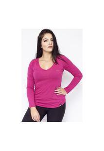 Camiseta Anjuss Manga Curta Rosa