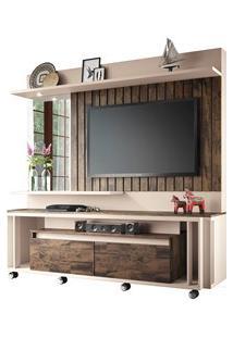 Estante Home Painel Para Tv Até 60 Pol Eclipse Off White/Deck - Hb Móv
