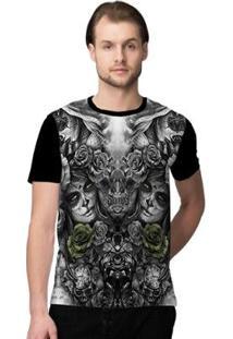 Camiseta Stompy Faces Masculino - Masculino