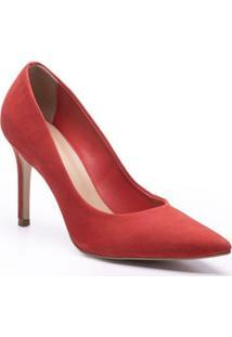 Scarpin Stiletto Nobuck Dorothy Isorella - Feminino-Vermelho
