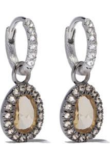 Annoushka Par De Brincos De Ouro Branco 18 Com Diamante - 18Ct White Gold