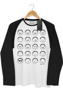 Camiseta Raglan Bandup! Turma Da Mônica Toy Look Mônica Branco