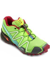 Tênis Salomon Speedcross 3 Feminino - Feminino-Verde Claro+Vermelho