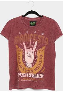 Camiseta Colcci Manifesto Respingos Feminina - Feminino