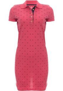 Vestido Mini Print Glam Aleatory - Feminino-Pink