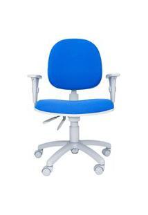 Cadeira Ergonômica Bol. Tecido. Ajuste Lombar. Braços Ajustáveis. Gás. Base Cinza. Rodízios. Prolabore Produtos Ergonômicos