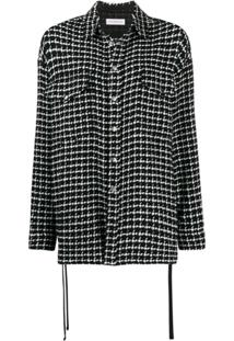 Faith Connexion Houndstooth Knit Shirt Jacket - Preto
