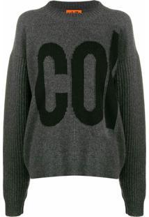 Colville Suéter Com Logo Bordado - Cinza
