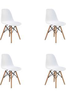 Kit 04 Cadeiras Eiffel S/ Braço Branca Rivatti