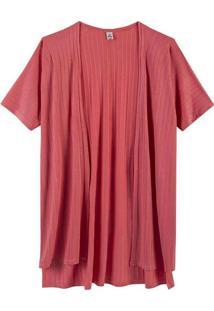 Casaco Básico Feminino Em Viscose Rosa