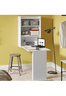 Armario Com Mesa Dobrável De Parede Branco Premium - Multimóveis