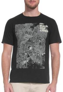 T-Shirt Osklen Pet Rethink Our Cities Masculina - Masculino-Preto