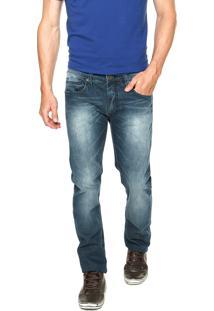 Calça Jeans Colcci Alex Estonada Azul