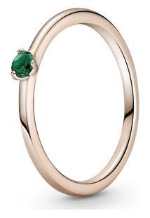 Anel Solitário Verde Pandora Rose™
