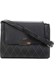 Bolsa Gash Mini Bag Recortes Tampa Feminina - Feminino-Preto