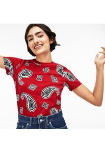 Camiseta Lacoste Live Estampada Feminina - Feminino