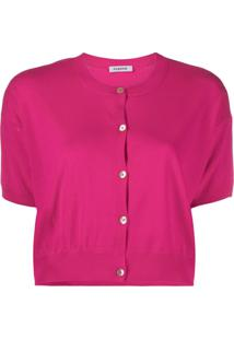 P.A.R.O.S.H. Cropped Cardigan - Rosa
