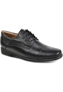 Sapato Social Masculino Bico Quadrado Derby Sandro Moscoloni Golden Shoes Preto