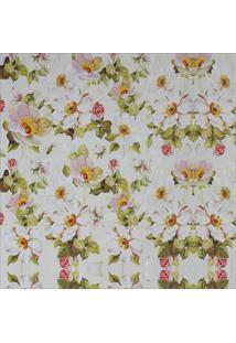 Papel Parede Flores Brancas 2,50 X 0,60 - Tricae