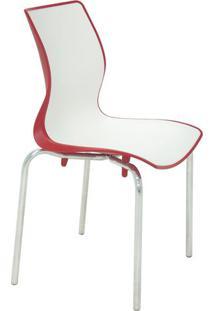 Cadeira Maja- Branca & Vermelho Escuro- 86X49,5X49Cmtramontina