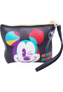Necessaire Minas De Presentes Mickey 90 Anos Preto