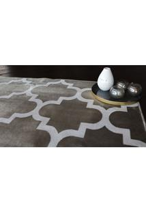 Tapete Belga Geometric Desenho 05 0.67X1.05 - Edantex - Marrom