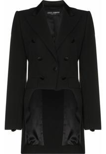 Dolce & Gabbana Blazer Com Aplicação De Botões - Preto