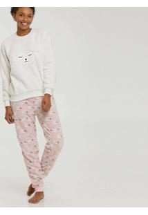 Pijama Feminino Estampa Ovelhas Manga Longa Marisa
