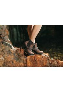 Bota Vegano Shoes Epíscia Marrom