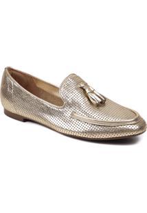 Sapato Feminino Loafer Zariff Metalizada