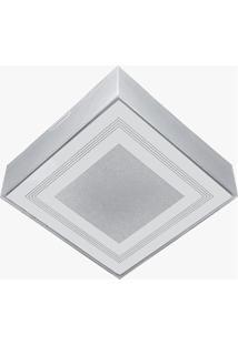 Plafon Para 2 Lâmpadas Valência Transparente Quadrado